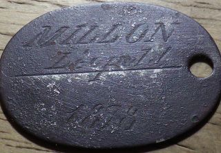 1878 Unknown Dog Tag Or Token - Look photo