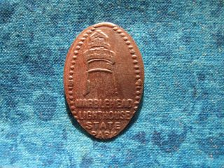 Marblehead Lighthouse Historical Society Elongated Penny Pressed Smashed 19 photo