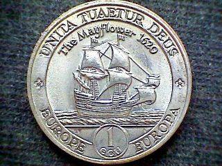 Europe Britannia 1995 One Ecu Trial Currency Coin,  Sailing Ship,  Unc photo