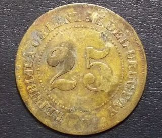 Uruguay Circa 1900´s Old Rural Establishment Token Marked: