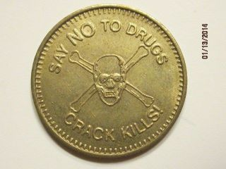Say No To Drugs Na Narcotics Anonymous Aa Alcohoics Anonymous Chip Medal Token photo