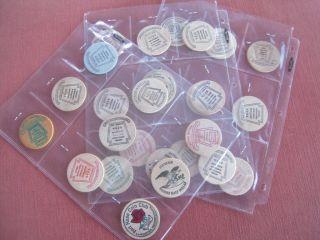 27 Vintage Assorted Large Souvenir Cpna Wooden Dollars photo