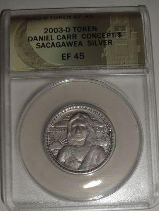 2003 - D Sacagawea Concept Silver Dollar W/o