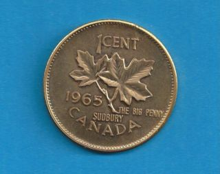 1965 Sudbury Big Penny High - Grade Hard To Find Bp2 photo