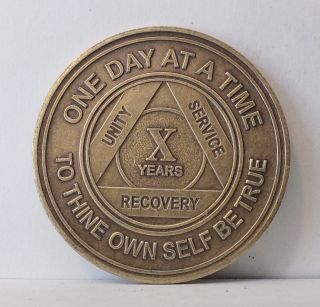 Alcoholic 10 Year Recovery - One Day Chip - Medallion Coin Medal Token Aa Anonymous photo