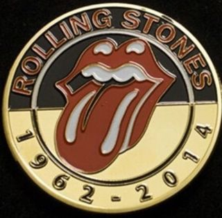 Rolling Stones Collectors Tour Coin Token 1962 Finished In 24k Gold ✅ photo