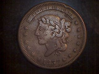 1837 Not One Cent For Tribute Hard Times Token Millions For Defense photo