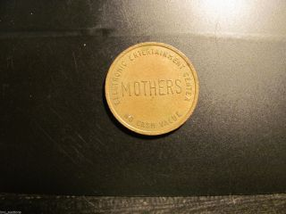 1970s Hotter Than Mothers Music Pinball Arcade Token Coin Mt.  Prospect Il Usa photo