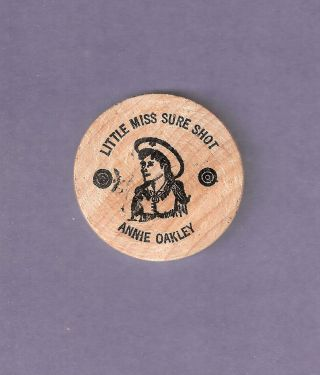 Little Miss Sure Shot Annie Oakley Willowdell Greenville Ohio Wooden Quarter photo