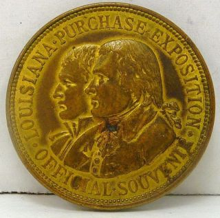 Rare 1904 Worlds Fair Louisiana Purchase Exposition Token - Napoleon & Jefferson photo