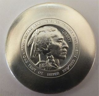 Daniel Carr 1913 - 2013 Indian Head Nickel Centennial 1oz.  999 Silver photo