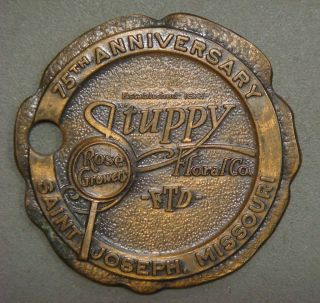 Key Tag - Stuppy Floral Co,  Rose Growers,  75th Anniv.  Saint Joseph,  Missouri photo