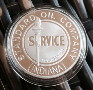 Stanard Oil Company Indiana.  999 Silver 1oz Petroleum Coin Gas Petrol Series 5 photo