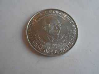 Cool Vintage Throw Me Something Mister Krewe Of Crescent City Souvenir Token photo