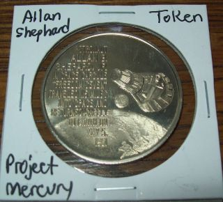 Vintage Project Mercury Allan B.  Shepard Jr.  Token Space Program May 5th,  1961 photo