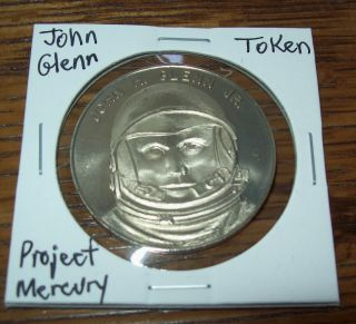 Vintage Project Mercury John H.  Glenn Jr.  Token Space Flight Program photo