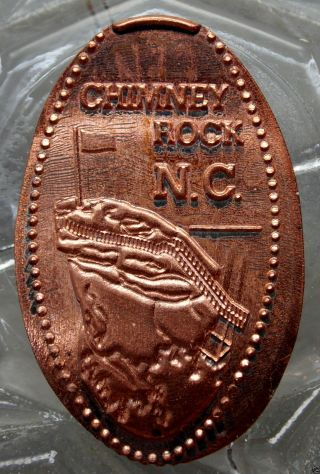 Chimney Rock,  N.  C.  Elongated Small Cent.  10811 photo