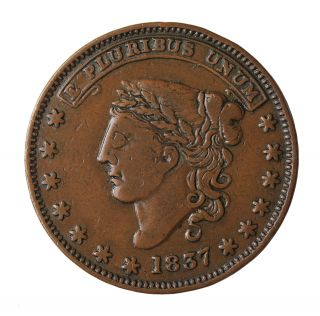 1837 George A.  Jarvis Wine & Tea Dealer York Hard Times Token Ht - 284 photo