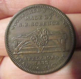 Us Hard Times Token Low 326 Sb Schenck Wood Planer Attleboro Mass 1834 Xf photo