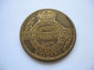 J.  H.  Hirsch & C0 Souvenir Medallion - Good Luck Symbols - 1919 St.  Louis photo