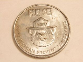 Older Dept.  Of Agriculture - Forest Service Smokey The Bear Fire Prevention Medal photo
