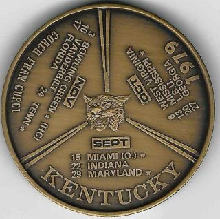 1979 Kentucky Football/basketball Schedule Token photo