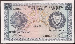 Cyprus 1982 250 Mils Banknote Pick Gem Unc Uncirculated photo