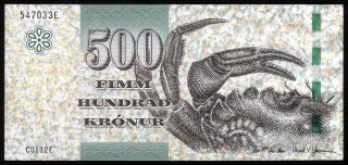 Faeroe Islands - 500 Kronur,  2011 - Unc photo