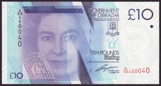 Gibraltar - 10 Pounds,  2010 - First Serie A/aa - Unc photo