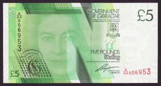 Gibraltar - 5 Pounds,  2011 - First Serie A/aa - Unc photo