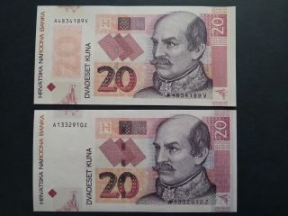 Croatia 20 Kuna 2014.  Commemorative And 2012.  Replacement Issue photo