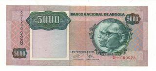 Angola 5000 Kwanzas 1991 Pick 130 C Sign 18 Unc photo