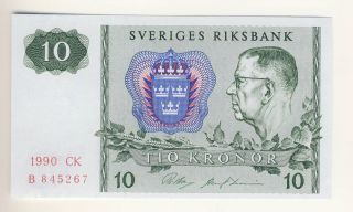 Sweden 10 Kronor 1990 Unc photo