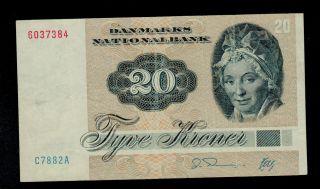 Denmark 20 Kroner 1988 (c7) Pick 49h Vf. photo