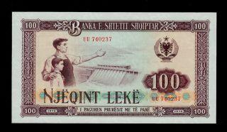 Albania 100 Leke 1976 Uu Pick 46 Unc. photo