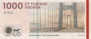 Denmark 1000 Kroner P - 69 Unc photo