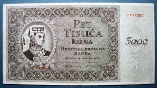 Croatia 1943 5000 Kuna photo