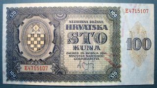 Croatia 1941 100 Kuna photo
