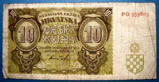 Croatia 1941 10 Kuna photo