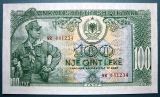 Albania 1957 100 Leke photo
