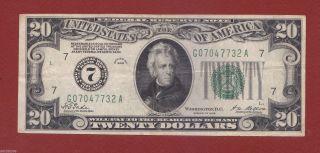 1928 Series Federal Reserve Note $20 Twenty Dollar Bill Vf photo