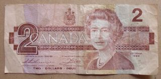 Bank Of Canada Elizabeth Ii $2 Banknote photo