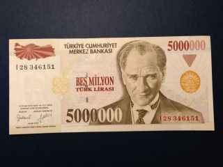 Turkey 500,  000 500000 Lira L1970 (1997) Banknote Unc High Cv photo