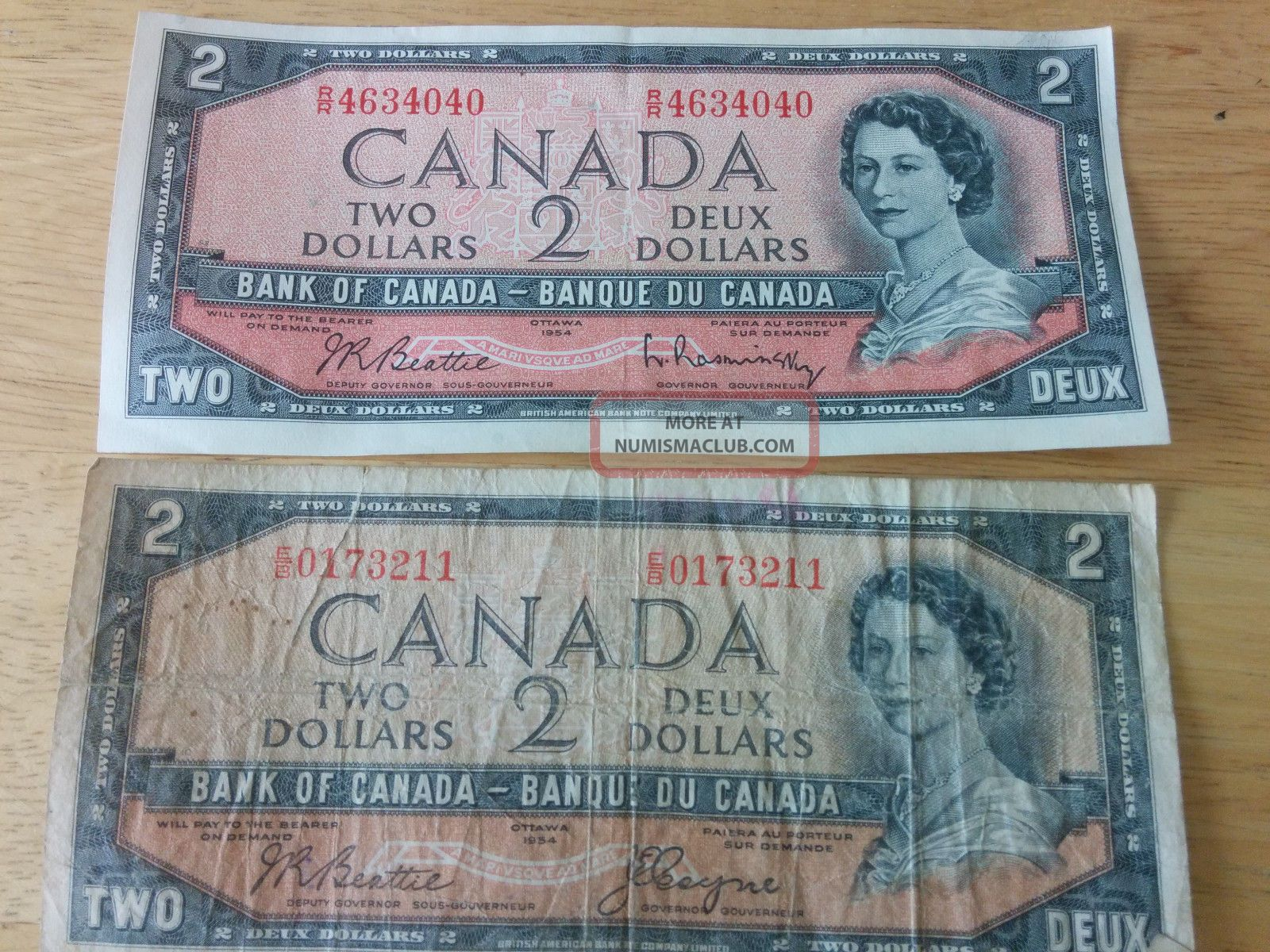 what are 2 dollar canadian bills worth