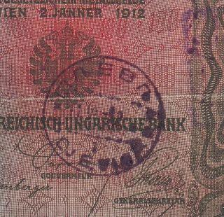 Yugoslavia - Montenegro - Austria 100 Kronen Cancelled.  Note photo
