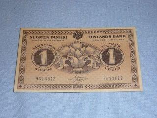 1 Mark Finland 1918 Banknote photo