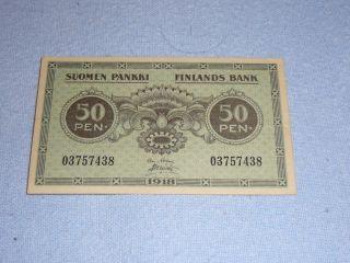 50 Penia Finland 1918 Banknote photo