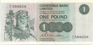 Scotland - 1972,  1 Pound A - Unc photo