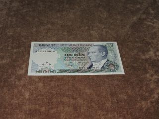 Turkey 10000 Lira,  L.  (1989),  P - 200,  Unc photo