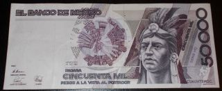 Mexico 1990 50,  000 Peso 1430 photo